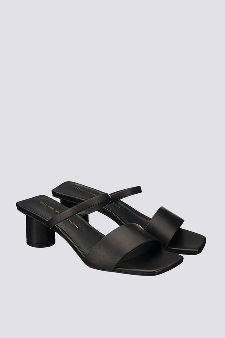 """INTENTIONALLY __________."" Hamp Sandal - Black"