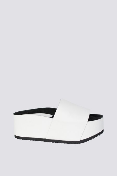 """INTENTIONALLY __________."" Cooper Platform Sandal - White"