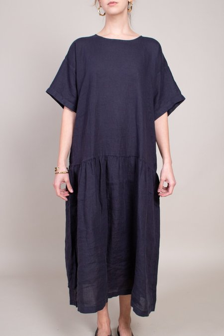 Black Crane Easy Tee Dress - Black