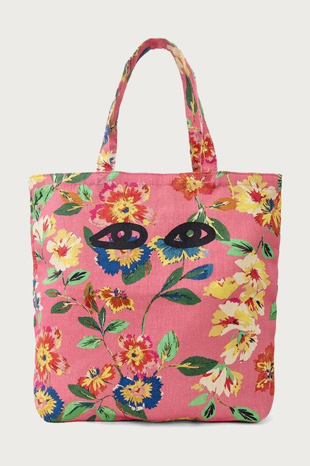 Clare V. Saturday Tote - Pink Floral