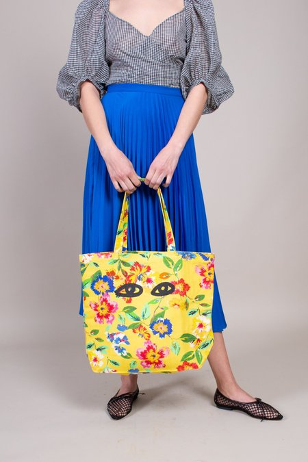 Clare V. Saturday Tote - Yellow Floral