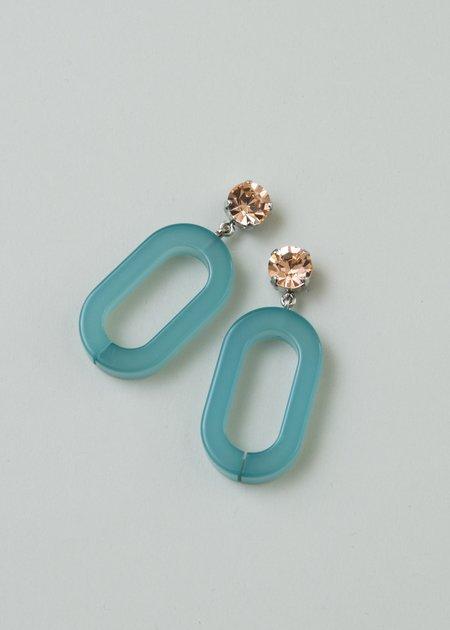 Rachel Comey Celeste Earring - Peach / Sky