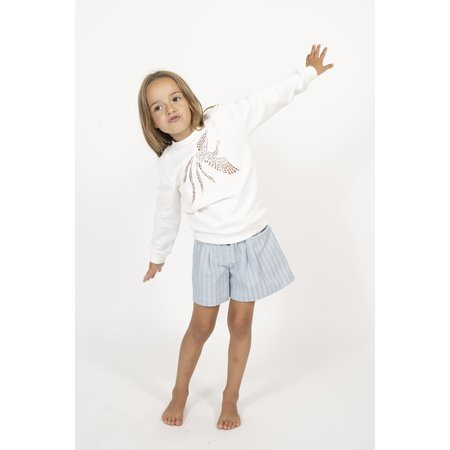 simple kids bird sweatshirt - milk