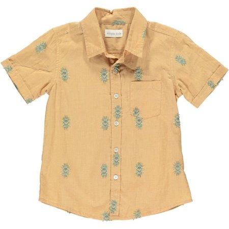 simple kids palu shirt - mustard