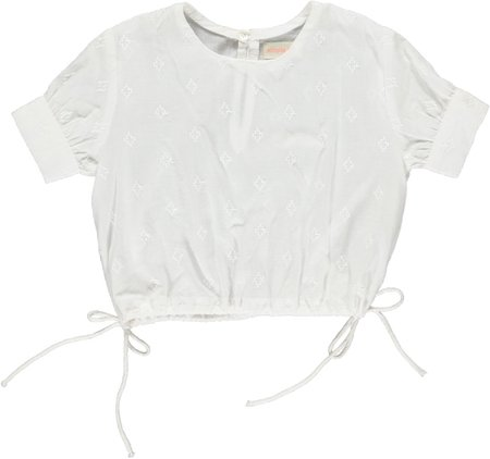 simple kids poppy top - white