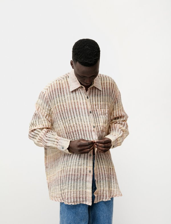 Our Legacy Borrowed Structure Shirt - Red Stripe