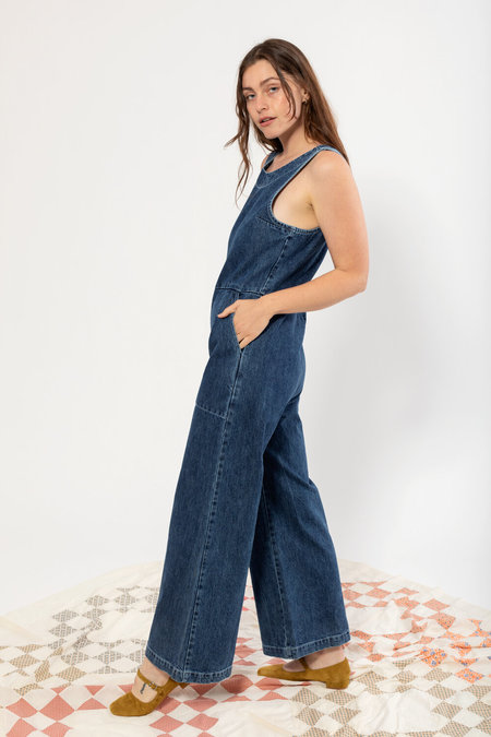 Carleen Sandbar Jumpsuit - Pacific Blue