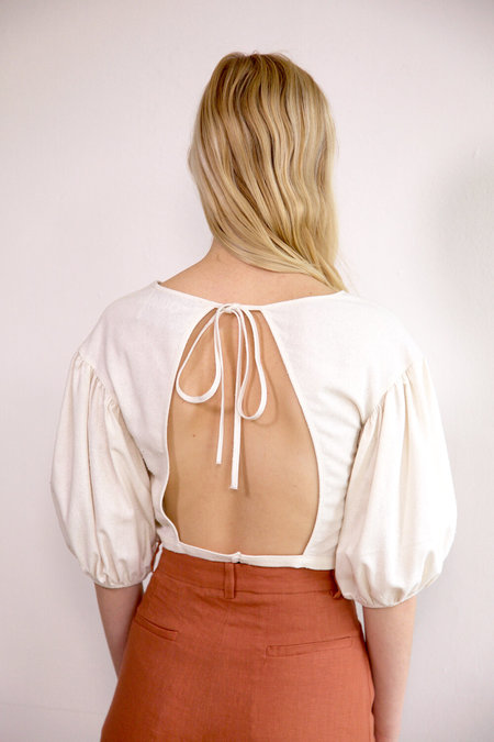 Town Clothes Quince Silk Blouse - Oyster