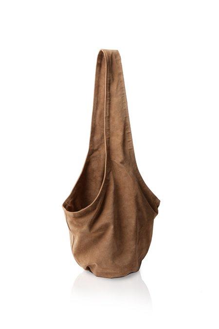 Marie Turnor Detour Bucket Bag — Tan Suede