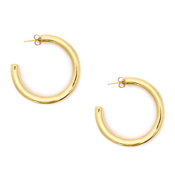 Mod + Jo Lola Hoop Earrings - Gold