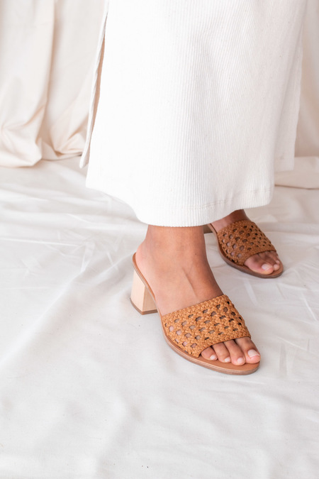 Nelson Made HELENA WOVEN MULE - Natural