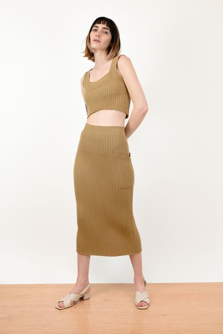 Micaela Greg Rae Rib Skirt - Bronze