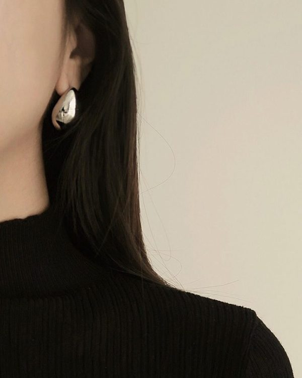 Common Muse Lunis Dome Earring - Gold