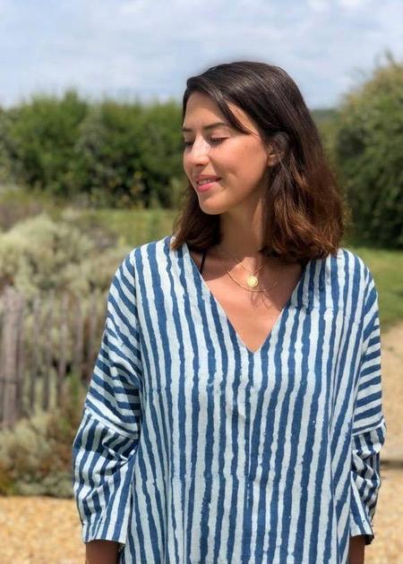 Happy French Gang dress - Indigo striped