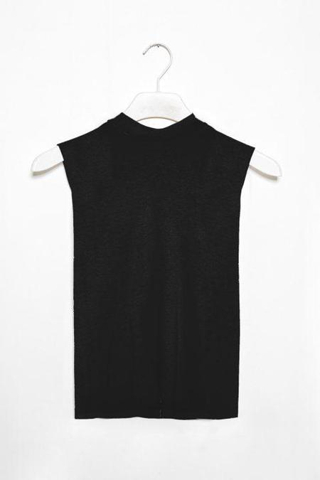 Frisur SOPHIA top - black tencel