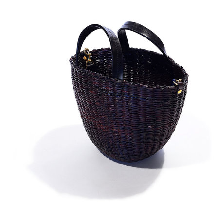 Clare V. Apolline Woven Straw Basket