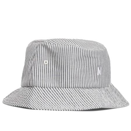 Norse Projects seersucker bucket hat - Navy Stripe