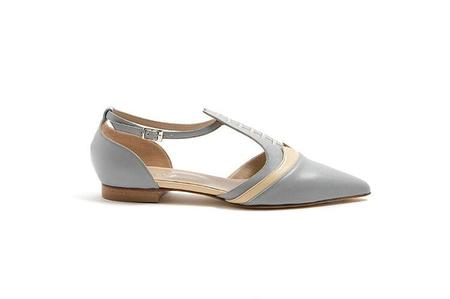 Maison Bedard Sandal - light grey/pale yellow