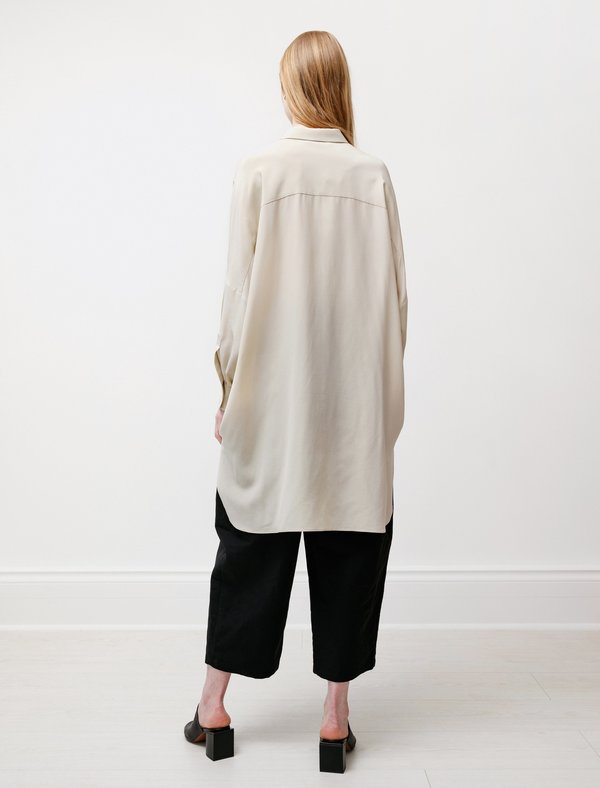 Dusan Oversized Silk Shirt - Chino