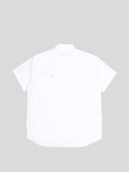 RAF SIMONS Short Sleeve Woven T Shirt - white