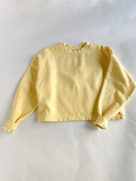 Harlin Cotton Cropped Sweatshirt - Butter