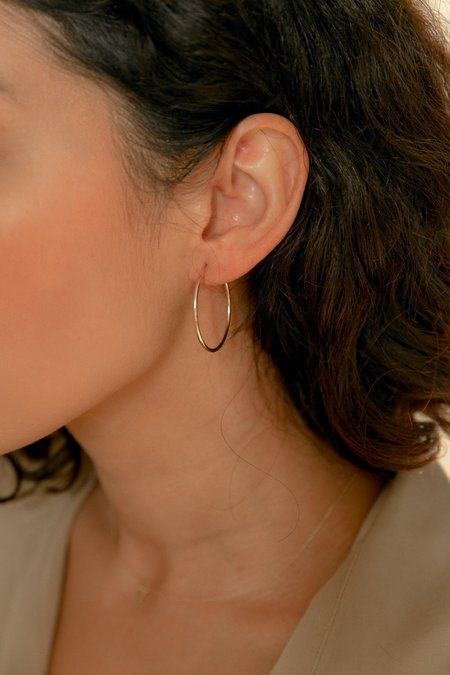 Love Is You And Me Seamless Medium Amarilo Hoops - 14k Gold