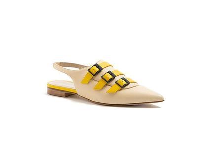 Maison Bedard Elena Mule - nude/yellow