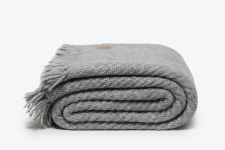 Morrow Soft Goods Ellery Alpaca Throw - Soft Heathered Grey