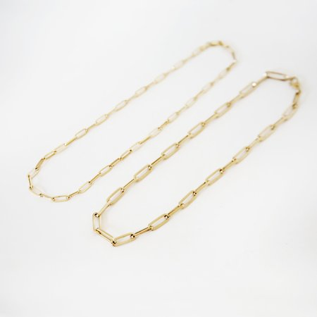 Looma Chunky Link Necklace - 14k Yellow Gold