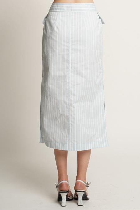 Sies Marjan Jacquetta Striped Midi Skirt - Cloud/Sugar