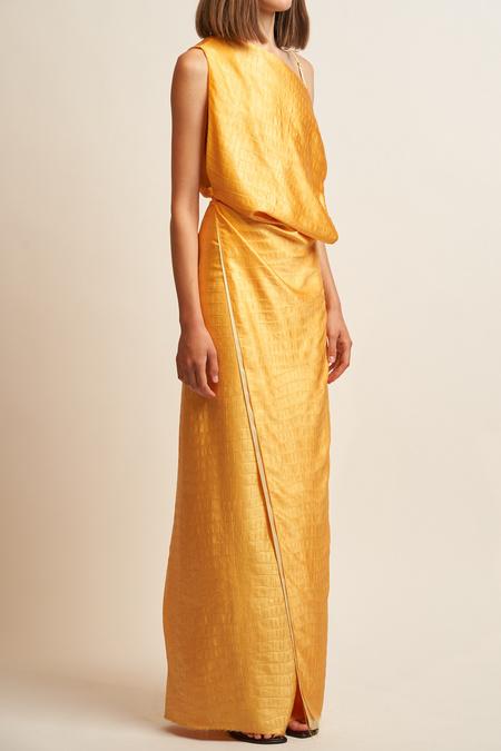 Sies Marjan Paloma Column Gown - Apricot