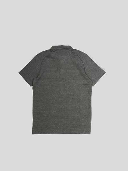 Wings+Horns Knit Jersey Signals Polo - Static Grey