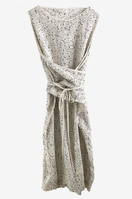 Uzi NYC UZI Oxford Dress - Splat/Cream