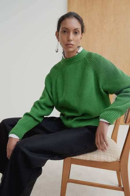 Kowtow Henri Crew sweater - bright green