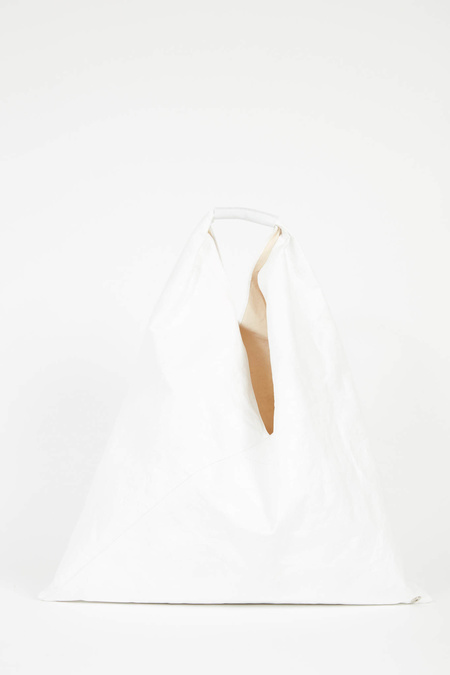 MM6 Maison Margiela Medium Recycled Paper Japanese Tote - White