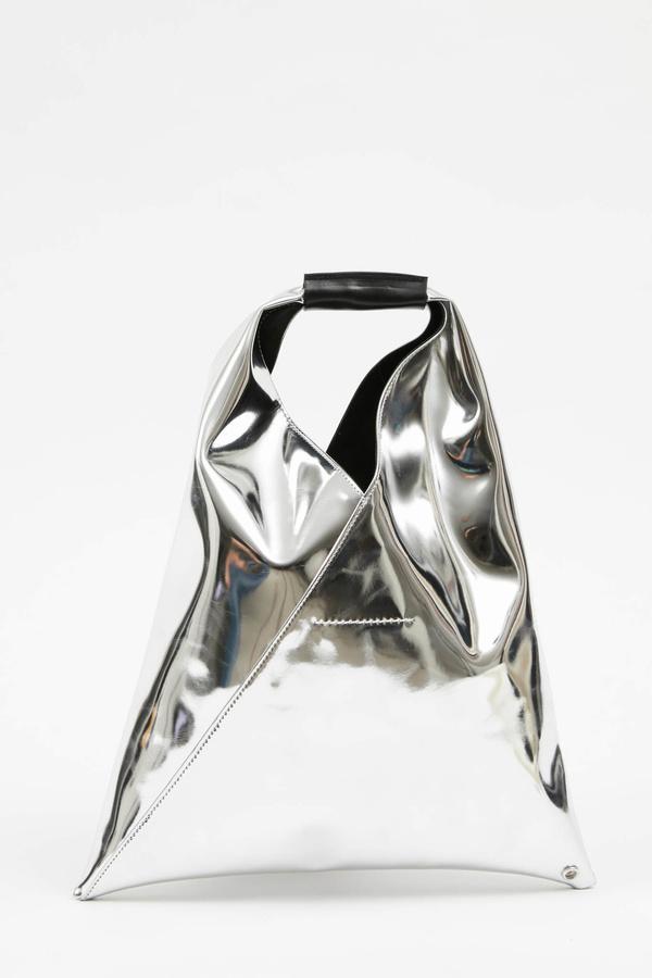 MM6 Maison Margiela Small Metallic Tote - Silver