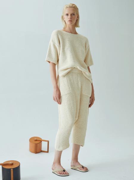 Atelier Delphine Pima Cotton Kiko Pant - Cream