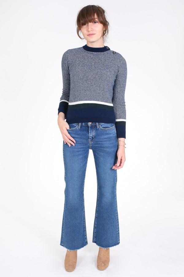 4ec2279a M.i.h Jeans Shrunken stripe guernsey sweater in blue multi | Garmentory