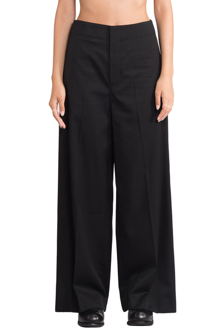 Greyyang - Black Wide Trousers