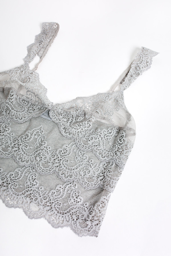 9d6c6ae5cde40b Only Hearts So fine lace cropped cami in heather grey