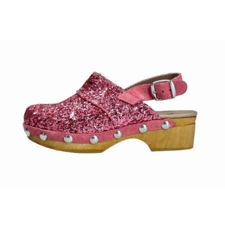 Kids lmdi collection banus clog - pink glitter