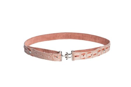 Clyde Link Belt in Pink Gator