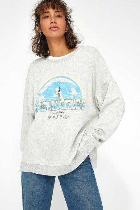 Lacausa Malibu Sweatshirt - Surf Print Heather Grey