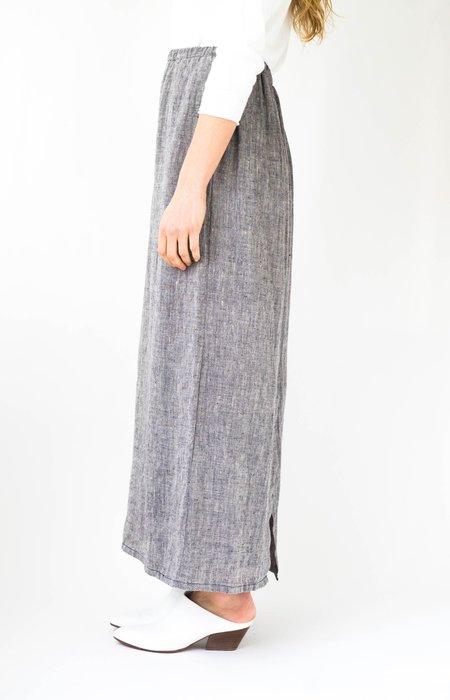 Vintage Elastic Waist Skirt - Heather Blue