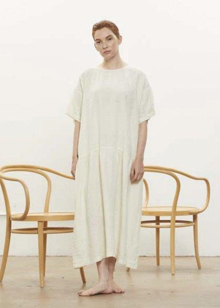 Black Crane Easy Tee Dress - Cream