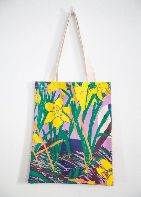 Gravel & Gold Book Tote - Daffodils