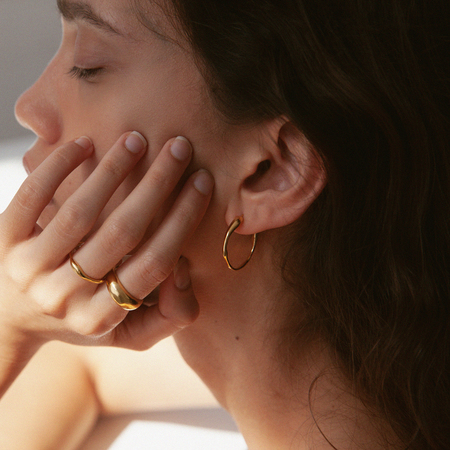 BAR Jewellery Ripple Earrings - Sterling/Gold