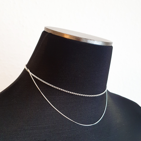 BAR Jewellery Cascade Necklace - sterling silver