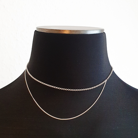 BAR Jewellery Cascade Necklace - Sterling/Gold