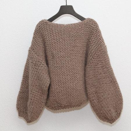 Maiami Wool Big Sweater - Greige
